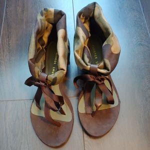 Chinese Laundry Sudoku camo sandals